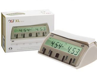 DGT-XL chess clock beige