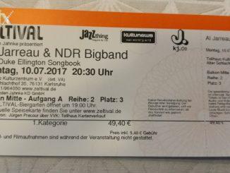 Al Jarreau concert card