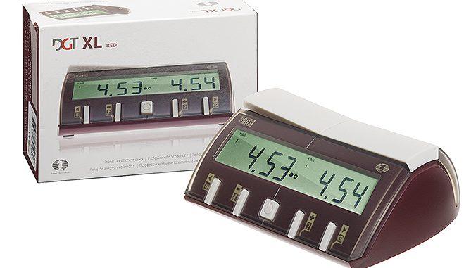DGT-XL chess clock red